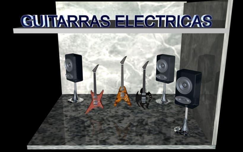 Guitarras Eléctricas en 3d 1