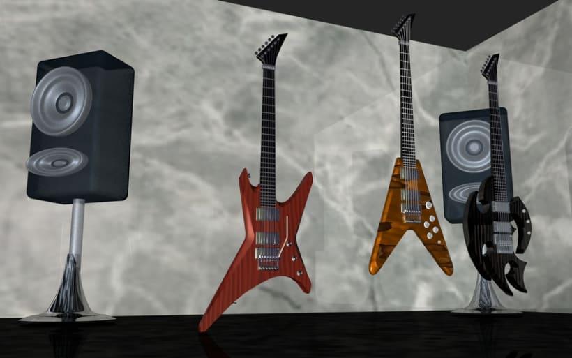 Guitarras Eléctricas en 3d 3