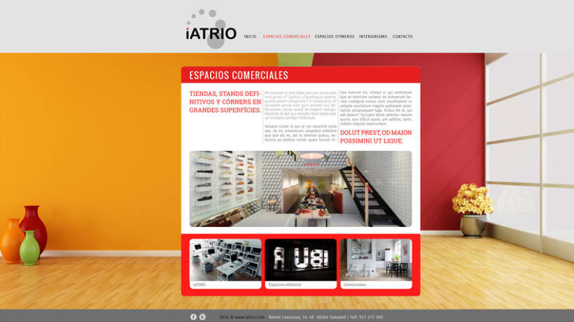 Iatrio - Diseño y maquetación web 2