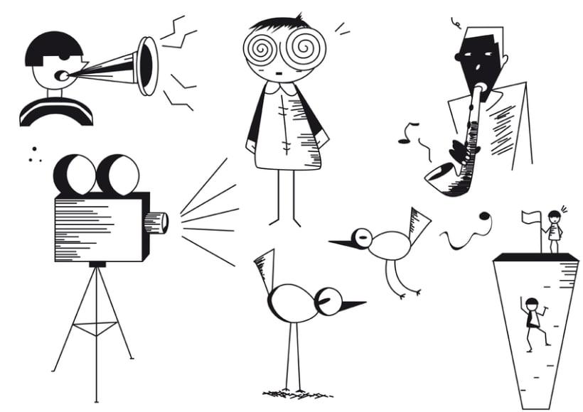 Proyecto NegreBlanc. Ilustraciones en Blanco y Negro -1