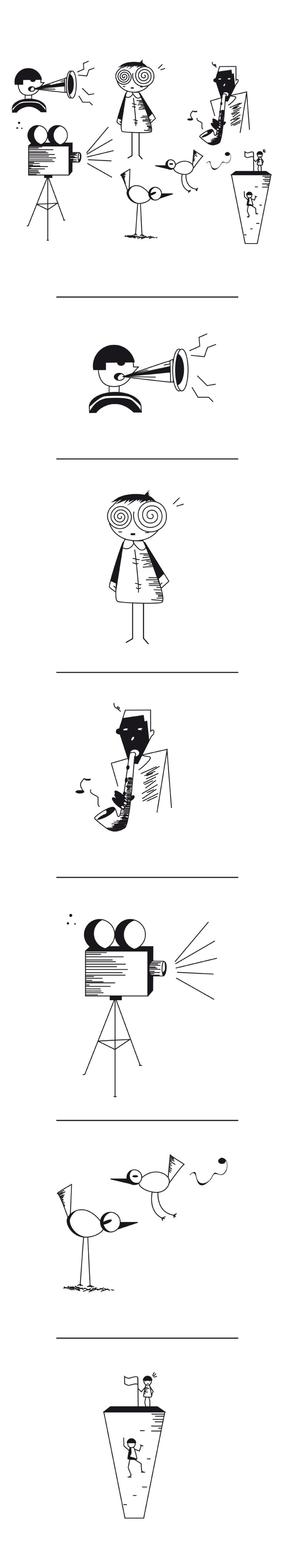 Proyecto NegreBlanc. Ilustraciones en Blanco y Negro 6