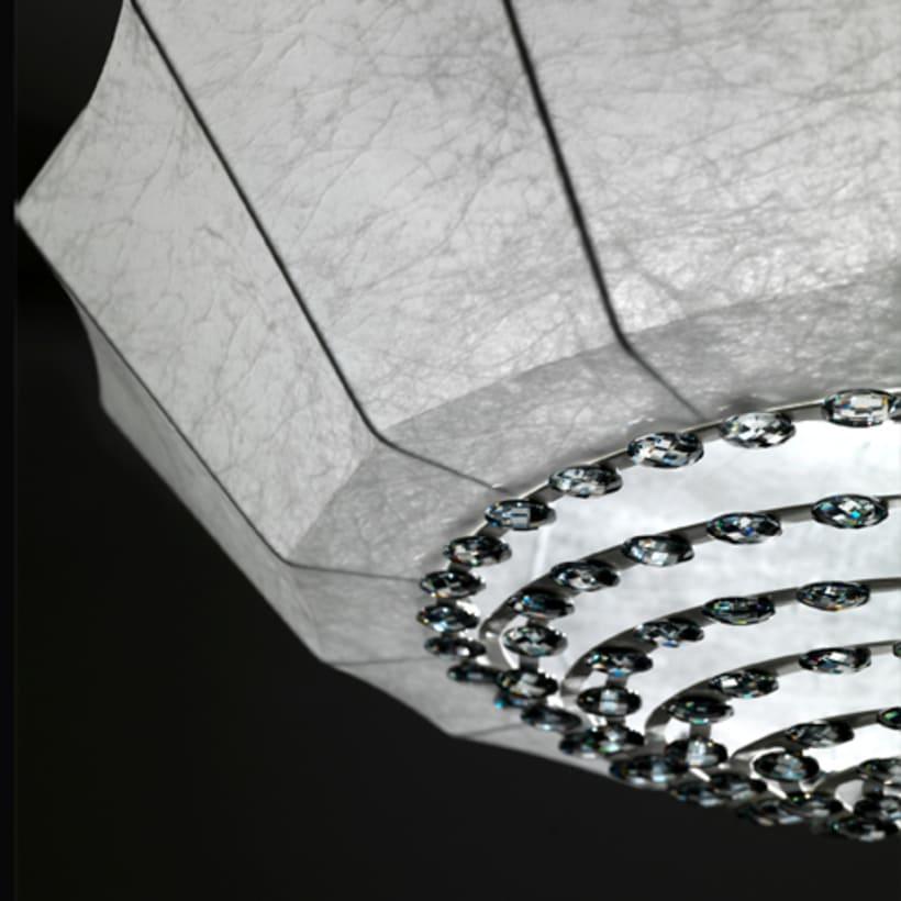 'cristalia' pendant with swarovski crystals. for anperbar, valencia. 0