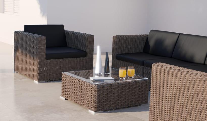 mimbre ii renders 3d sof s terraza exterior domestika