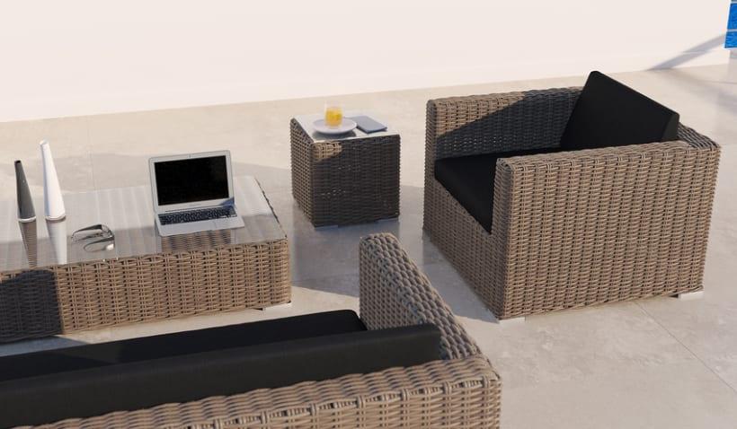 MIMBRE II. Renders 3d Sofás Terraza Exterior 8