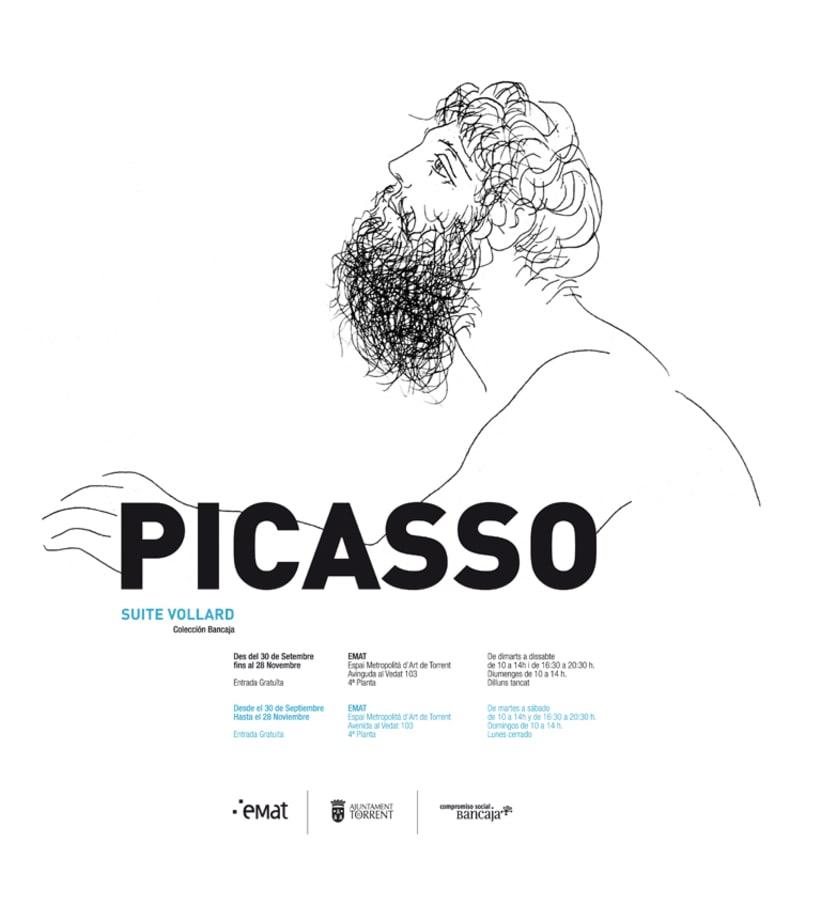 """Conceptualización y diseño de imagen para la exposición de la obra """"Suite Vollard"""" de Picasso. Cliente: Museo Emat de Torrent. -1"""