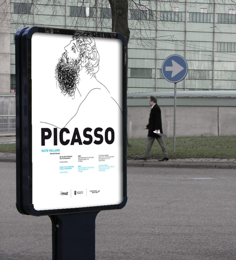 """Conceptualización y diseño de imagen para la exposición de la obra """"Suite Vollard"""" de Picasso. Cliente: Museo Emat de Torrent. 0"""