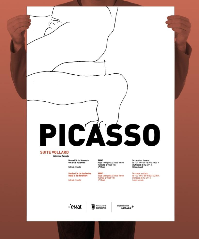 """Conceptualización y diseño de imagen para la exposición de la obra """"Suite Vollard"""" de Picasso. Cliente: Museo Emat de Torrent. 1"""