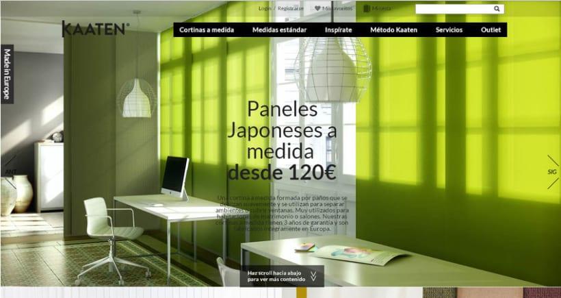 Kaaten tienda online de estores y cortinas domestika - Tiendas de cortinas online ...