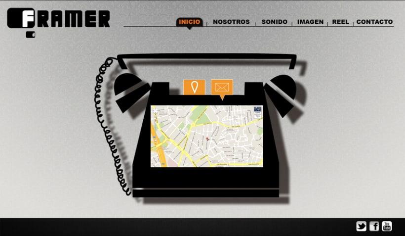 Diseño de web Framer 5