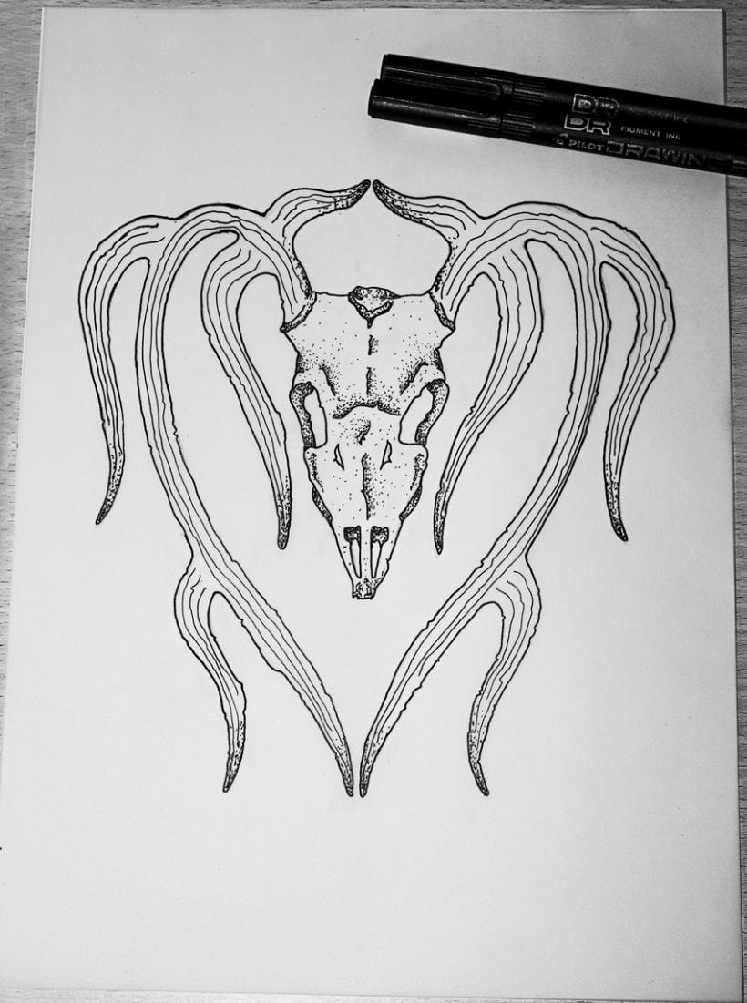 Deer skull tattoo 1
