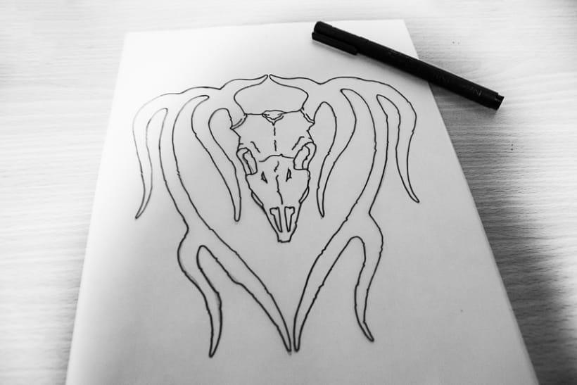 Deer skull tattoo 0