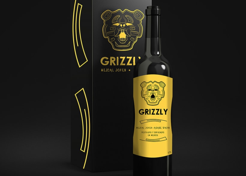 """Label """"GRIZZLY"""" 2"""