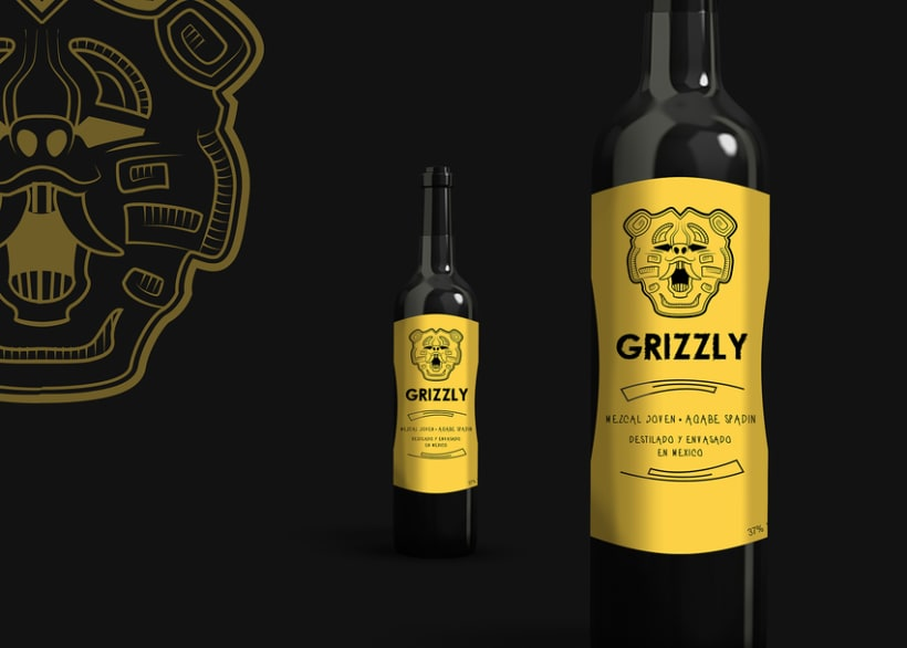 """Label """"GRIZZLY"""" 4"""