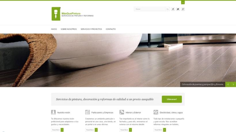 Web de la empresa Masquepintura -1