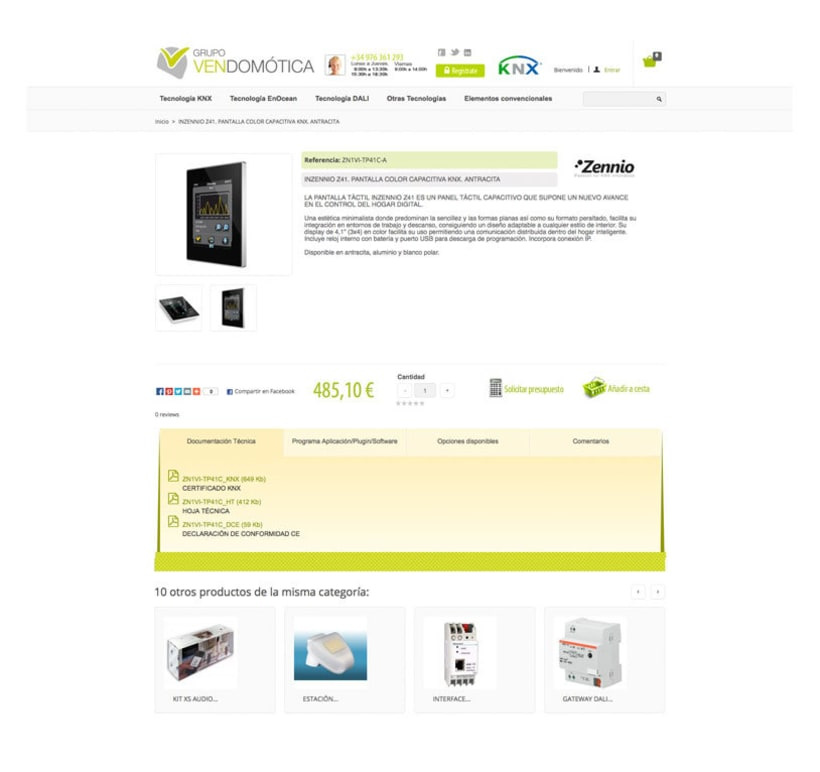 Vendomotica - Tienda online de domótica para particulares y empresas 2