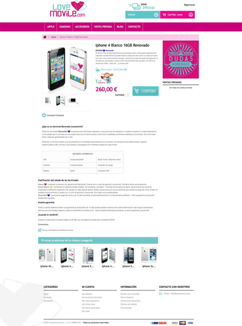 Lovemovile - Tienda online de venta de smartphone libres nuevos y renovados 0