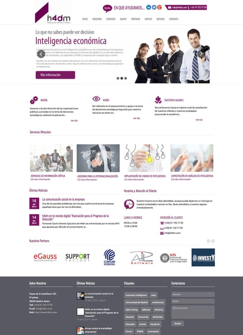 h4dm - Web Corporativa de Consultoria Business Intelligence de Madrid 0