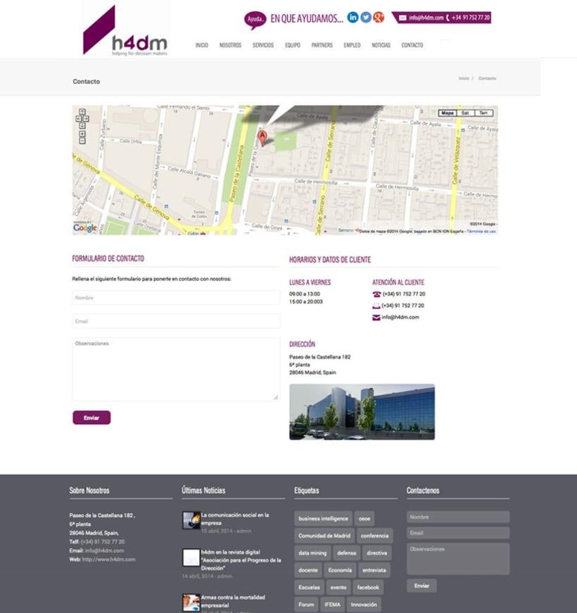 h4dm - Web Corporativa de Consultoria Business Intelligence de Madrid 2