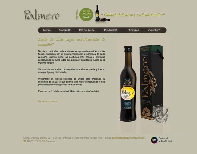 PalmeroSanz - Web Corporativa de la empresa familiar  Aceites PalmeroSanz 0
