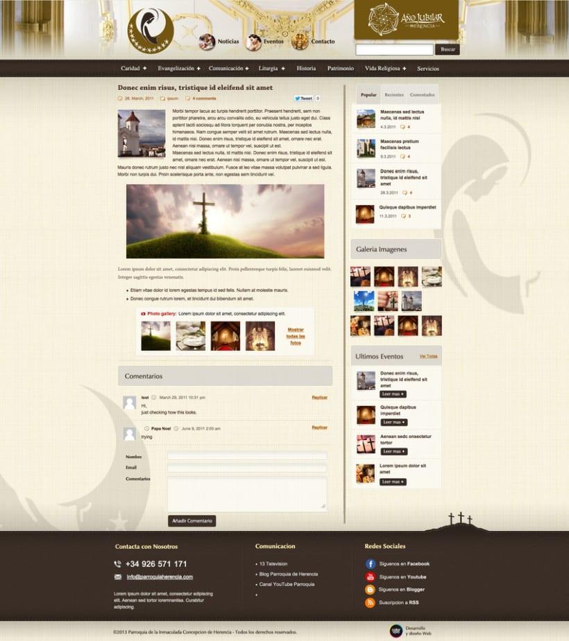 Parroquia de Herencia - Web Corporativa de la Parroquia de la localidad de Herencia 2