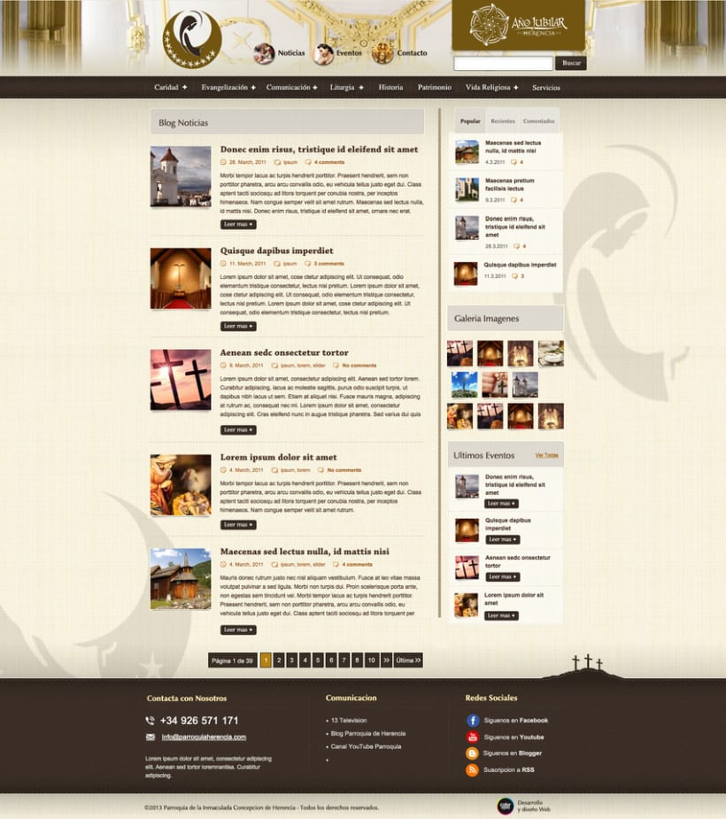 Parroquia de Herencia - Web Corporativa de la Parroquia de la localidad de Herencia 1