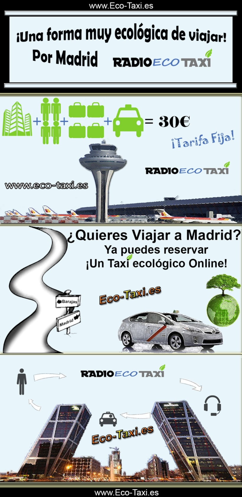 ¡Viajar por Madrid! Taxi ecológico -1