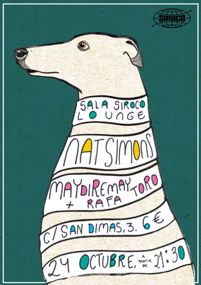 Cartel para Nat Simons - Sala Siroco -1