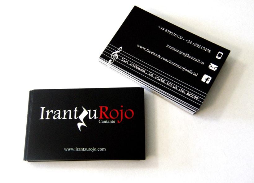 Tarjetas de visita IrantzuRojo 1