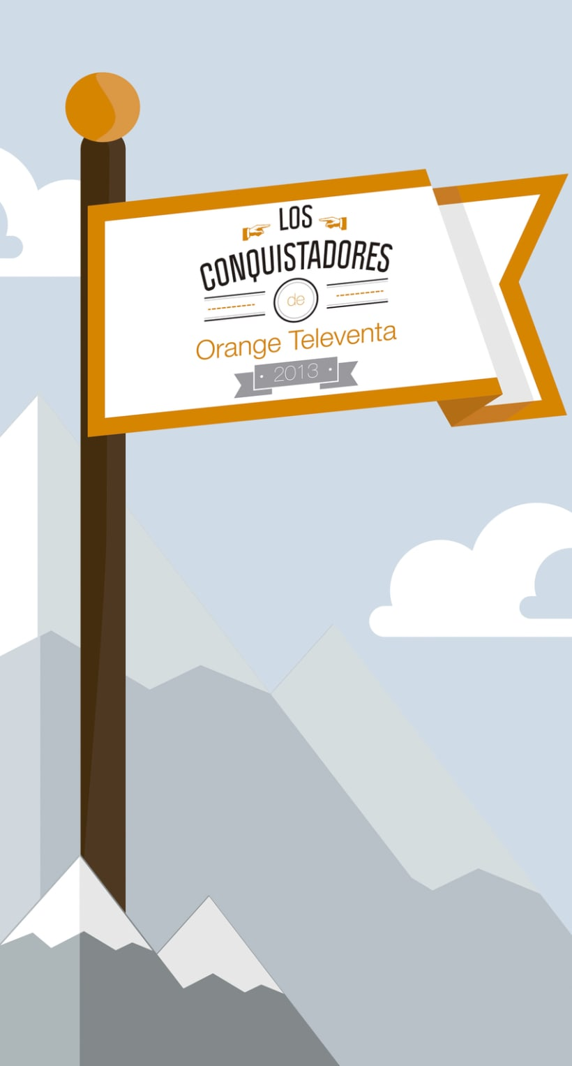 decoración Orange Televenta 0