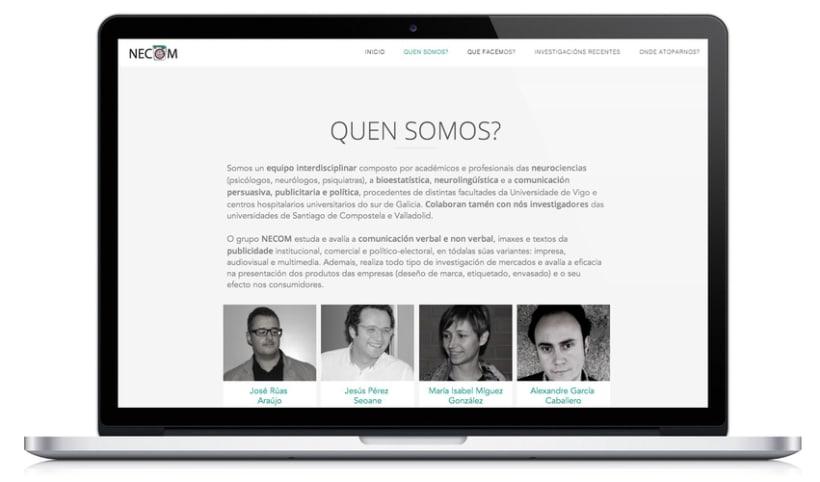 Web para el grupo NECOM 2