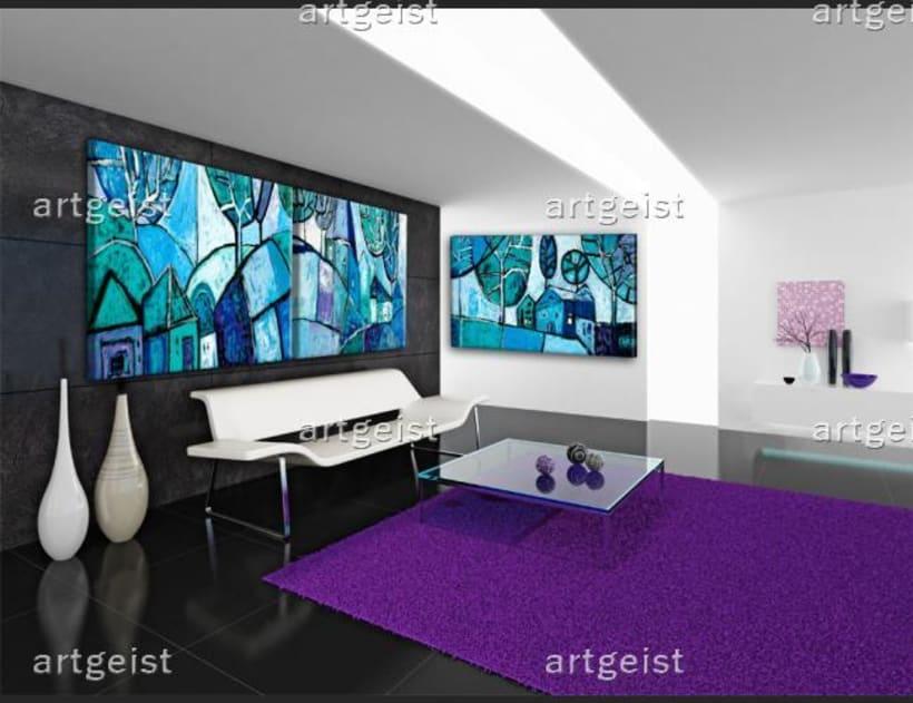 Interiores decorados con cuadros 0