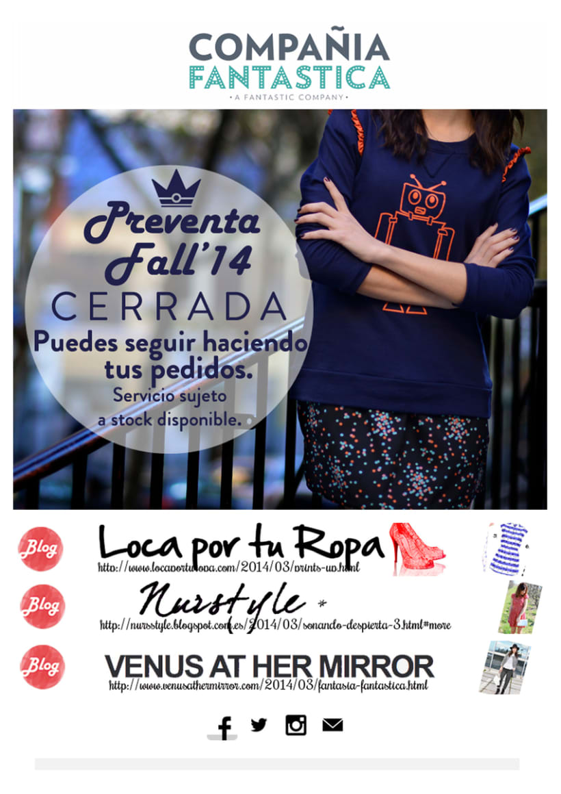 Mailings Moda (prensa, wholesale, invitaciones) 2