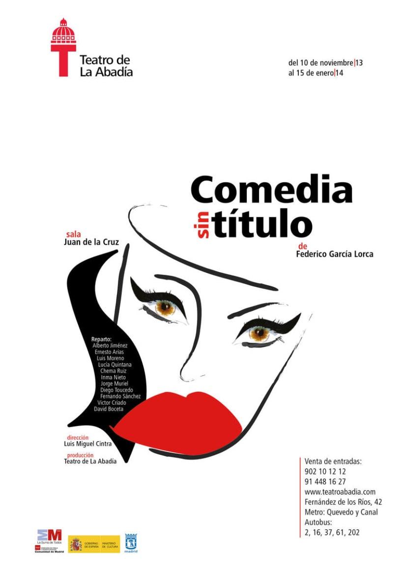 Cartel Comedia sin título | Personal Project 1