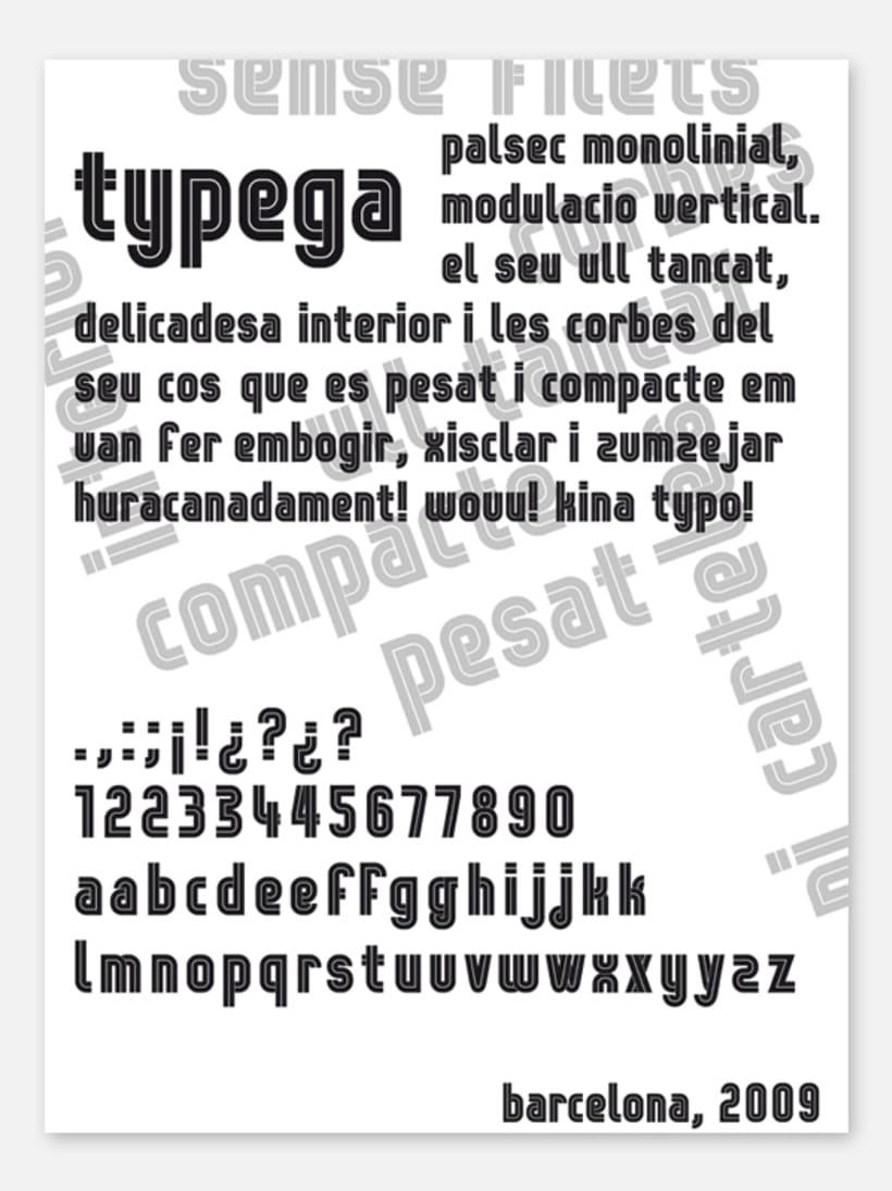 Typega: a typeface 1
