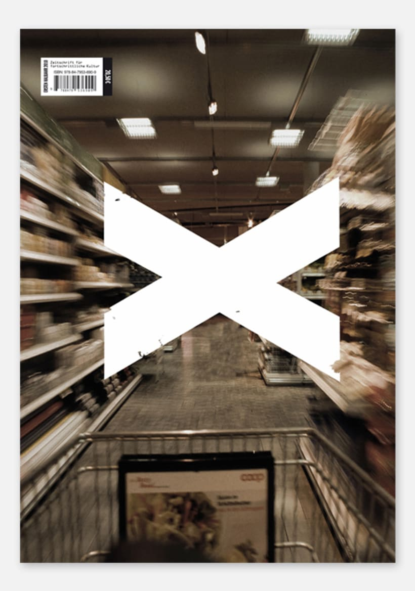"""X"" Magazine, revista cultural: Disseny Editorial 1"