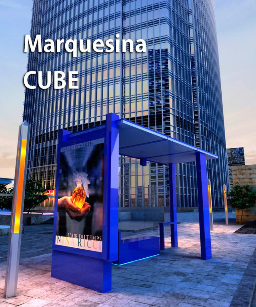 Marquesina Cube -1