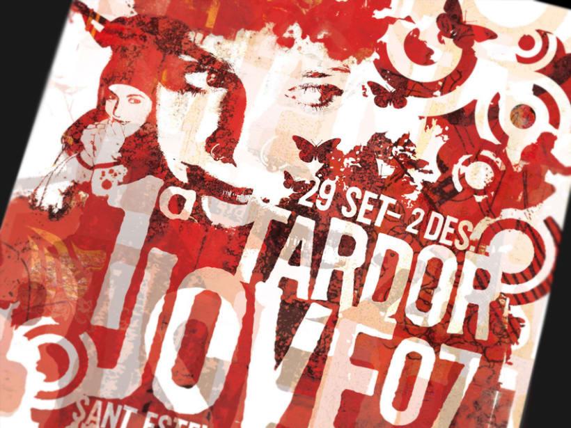 """Ilustración """"Tardor jove"""". Ayuntamiento Sant Esteve de Sesrovires. -1"""