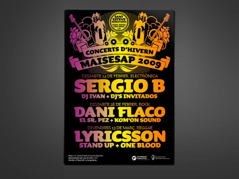 """Ciclos de conciertos """"Maisesap"""". Ayuntamiento Sant Esteve de Sesrovires. -1"""