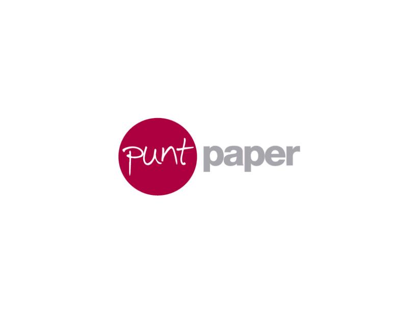 Identidad coorporativa para la papelería Punt Paper.  -1
