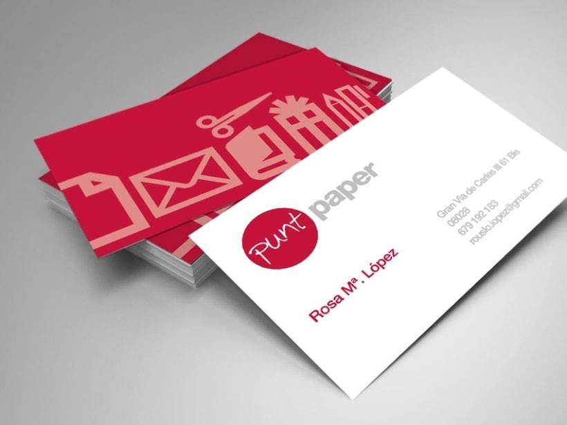 Identidad coorporativa para la papelería Punt Paper.  0