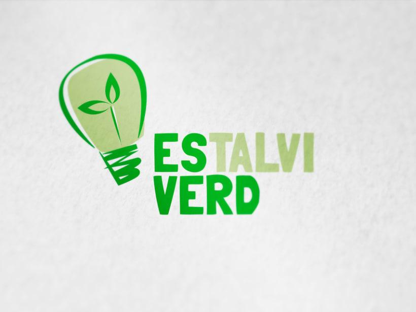 logotipo empresa de energía ecológica Estalvi verd. -1