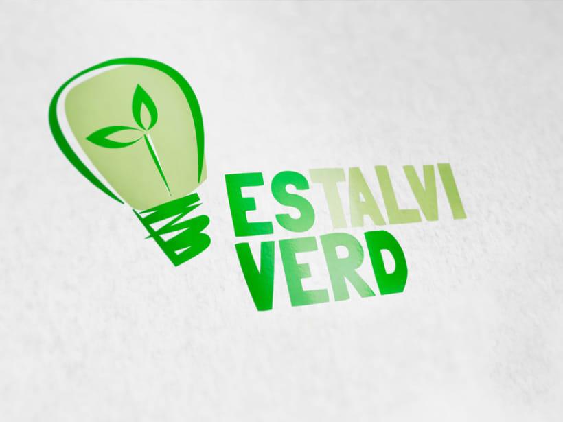 logotipo empresa de energía ecológica Estalvi verd. 0