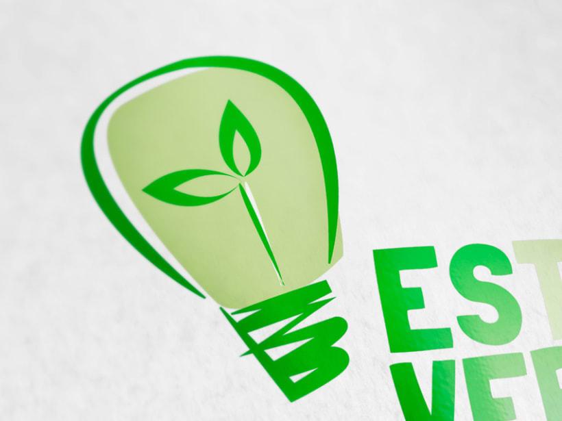 logotipo empresa de energía ecológica Estalvi verd. 1