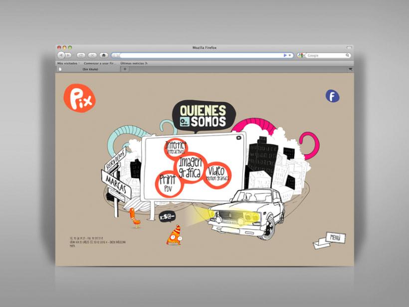 Diseño página web Pix estudio. 0