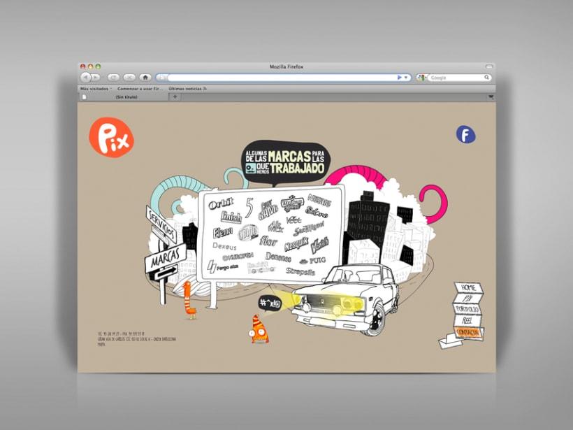 Diseño página web Pix estudio. 1