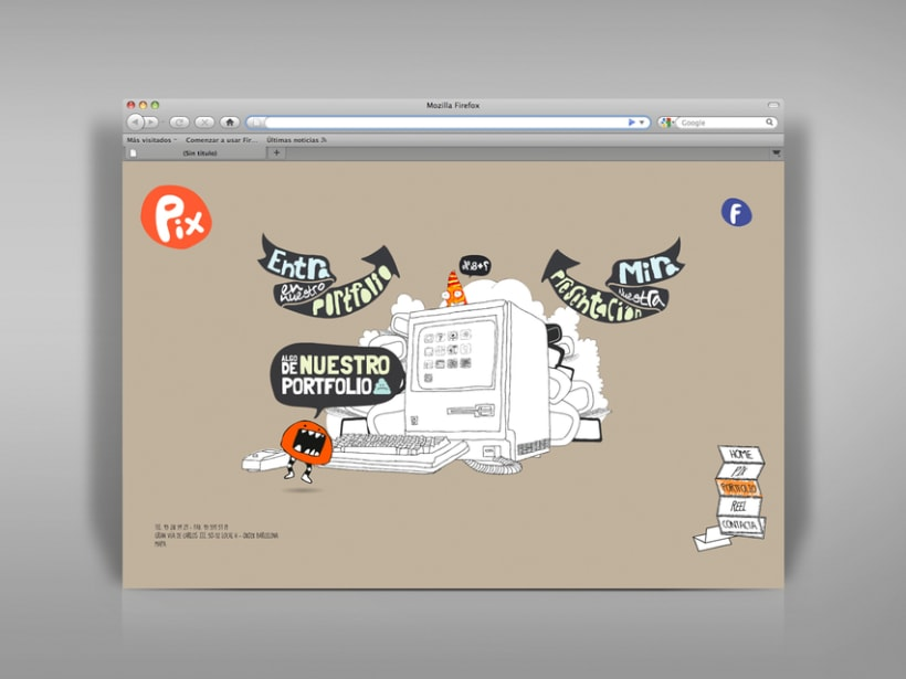 Diseño página web Pix estudio. 2