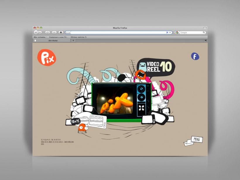 Diseño página web Pix estudio. 3