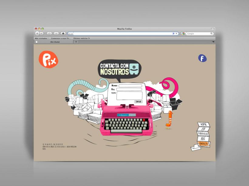 Diseño página web Pix estudio. 4
