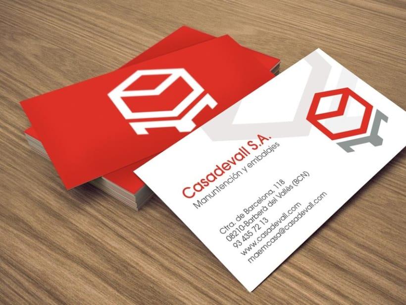 Identidad corporativa Casadevall. 2