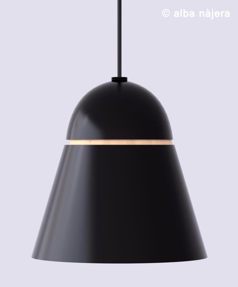 Modelado de una lampara -3D -1